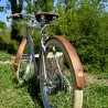 Garde-boue Belle Époque en noyer français monter sur vélo