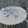 Kit de fixation pour garde boue en bois en 45mm et 55mm
